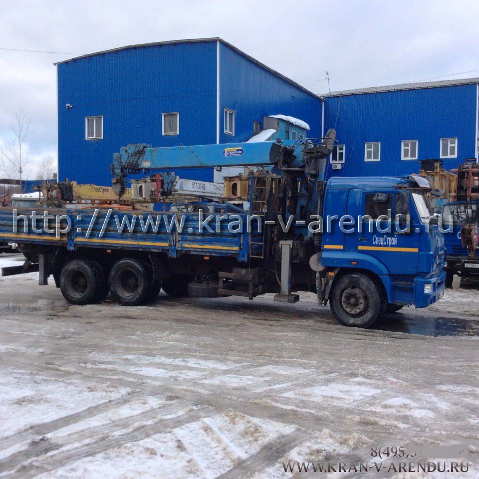 Аренда манипулятора в Москве семь тонн